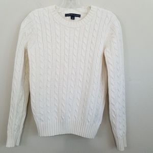 Tommy Hilfiger Off-White Cable Knit Sweater